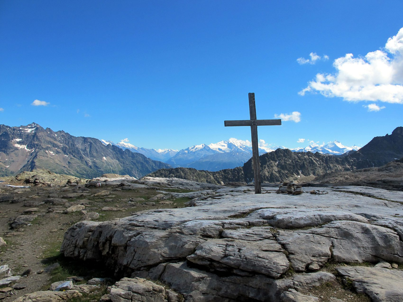 Gipfel am Lötschenpass